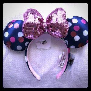 Disney's polka dot blue and pink Minnie Ears